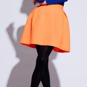 PINK TARTAN Puffy FULL Tiffany NEON ORANGE SKIRT